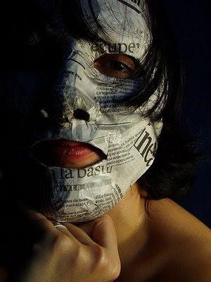La máscara para la persona del aceite de ricino y la sosa